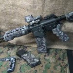 AR-15 Rifle with Skull Finish