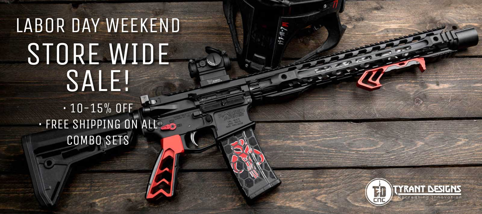 Tyrant Designs Labor Day Sale - AR-15 Grips and AR-15 Foregrips
