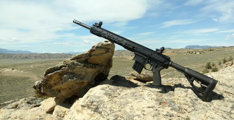 Big Horn Armory AR500 Semi-Auto Rifle with Adaptive Tactical Stock